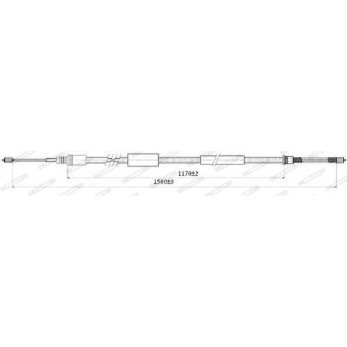 Ντίζες Χειροφρένου PEUGEOT 306 1993 - 1996 ( N3 ) FERODO FHB431289