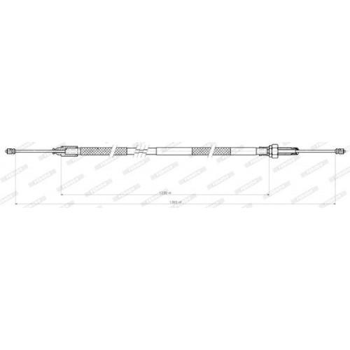 Ντίζες Χειροφρένου CITROEN XANTIA 1995 - 1998 ( X1 ) FERODO FHB432411
