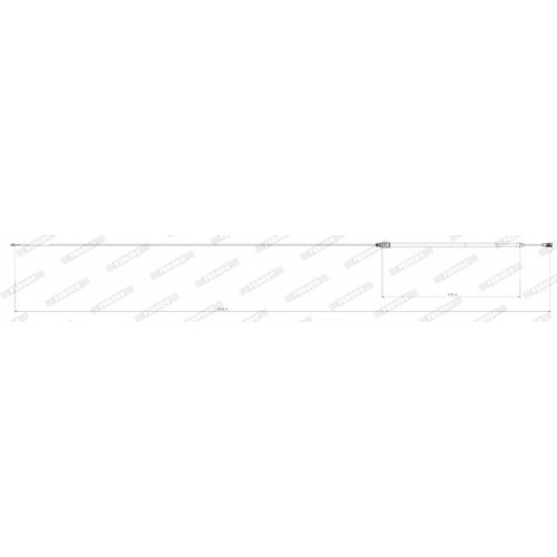Ντίζες Χειροφρένου CITROEN C5 2001 - 2004 ( DC ) FERODO FHB432898