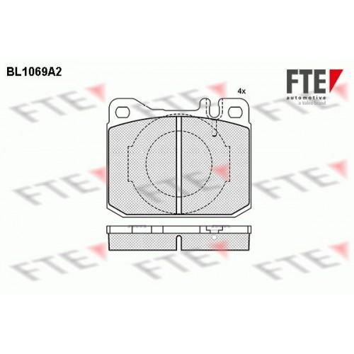Τακάκια Σετ FTE BL1069A2