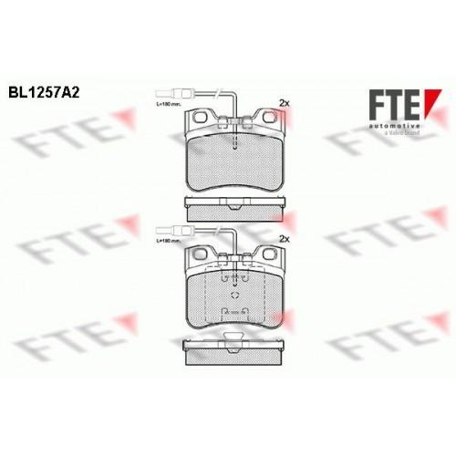 Τακάκια Σετ CITROEN AX 1987 - 1991 ( ZA ) FTE BL1257A2