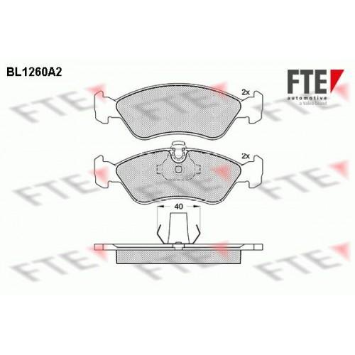 Τακάκια Σετ OPEL ASTRA 1991 - 1994 ( F ) FTE BL1260A2