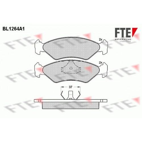 Τακάκια Σετ FORD FIESTA 1990 - 1995 ( Mk3 )( GFJ ) FTE BL1264A1