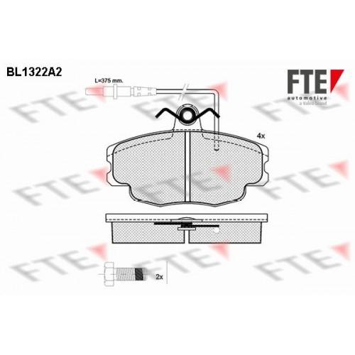Τακάκια Σετ CITROEN ZX 1991 - 1994 ( N2 ) FTE BL1322A2