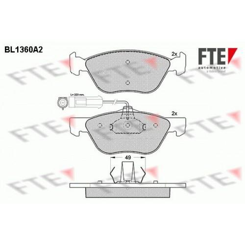 Τακάκια Σετ FIAT BRAVA 1995 - 2003 ( 182 ) FTE BL1360A2
