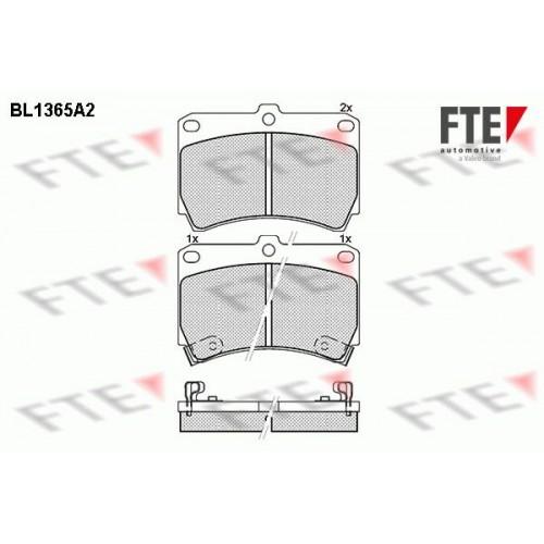Τακάκια Σετ MAZDA 121 1990 - 1996 ( DB ) FTE BL1365A2