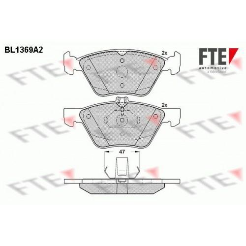 Τακάκια Σετ MERCEDES E CLASS 2002 - 2006 ( W211 ) FTE BL1369A2