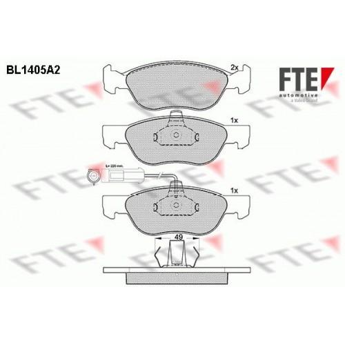 Τακάκια Σετ FIAT BRAVA 1995 - 2003 ( 182 ) FTE BL1405A2