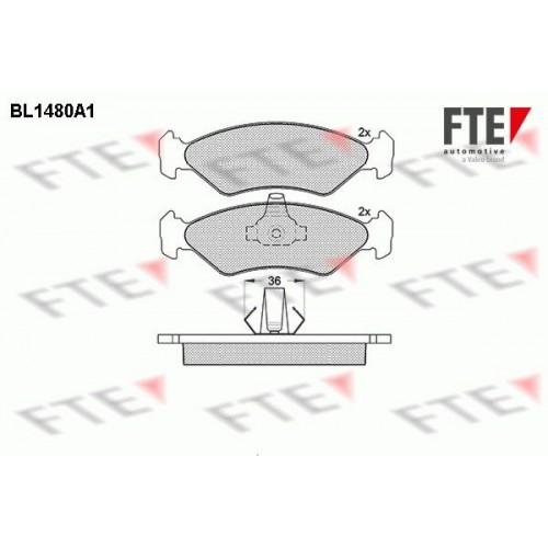 Τακάκια Σετ FORD KA 1997 - 2008 ( RB ) FTE BL1480A1