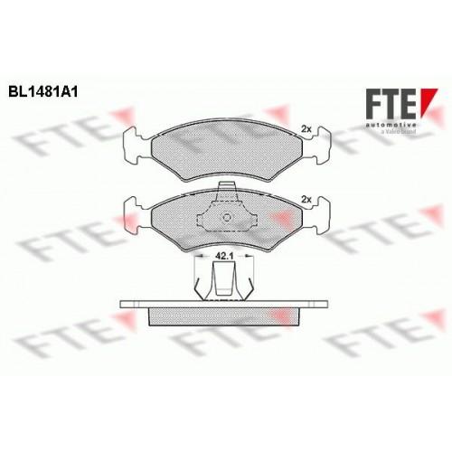 Τακάκια Σετ FORD FIESTA 1996 - 1999 ( Mk4a ) FTE BL1481A1