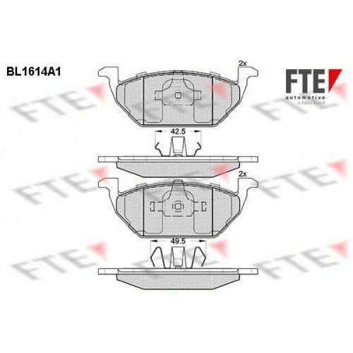 Τακάκια Σετ VW GOLF 1998 - 2004 ( Mk4 ) FTE BL1614A1