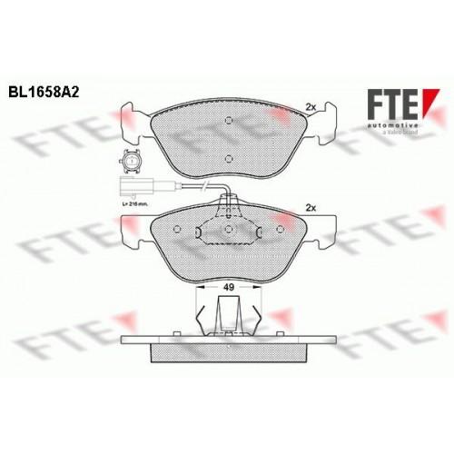 Τακάκια Σετ FIAT BRAVA 1995 - 2003 ( 182 ) FTE BL1658A2