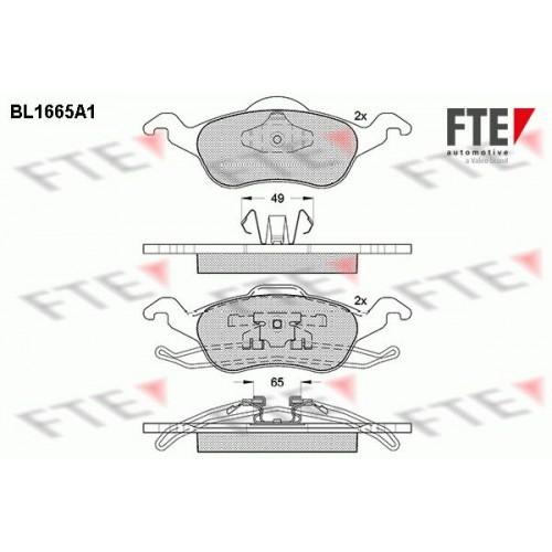 Τακάκια Σετ FORD FOCUS 2002 - 2004 ( MK1B ) FTE BL1665A1