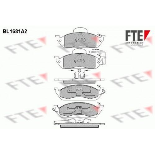 Τακάκια Σετ MERCEDES M-CLASS 1998 - 2002 ( W163 ) FTE BL1681A2