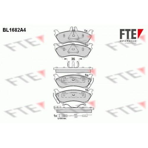 Τακάκια Σετ MERCEDES M-CLASS 1998 - 2002 ( W163 ) FTE BL1682A4