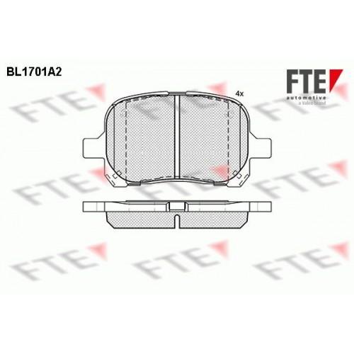 Τακάκια Σετ FTE BL1701A2