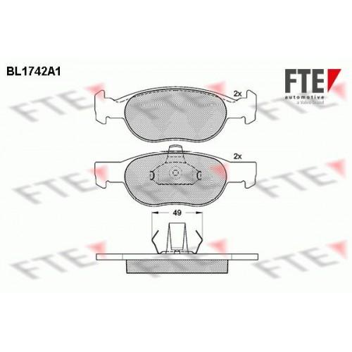 Τακάκια Σετ FIAT PUNTO 2003 - 2011 ( 188 ) FTE BL1742A1
