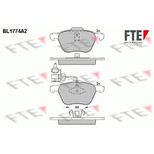 Τακάκια Σετ VW SHARAN 2000 - 2010 ( 7M ) FTE BL1774A2