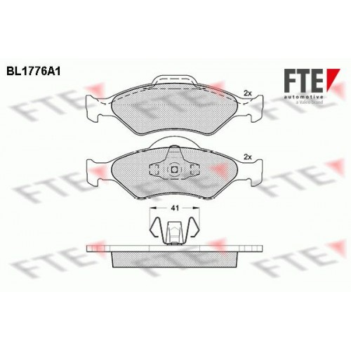 Τακάκια Σετ FORD KA 1997 - 2008 ( RB ) FTE BL1776A1