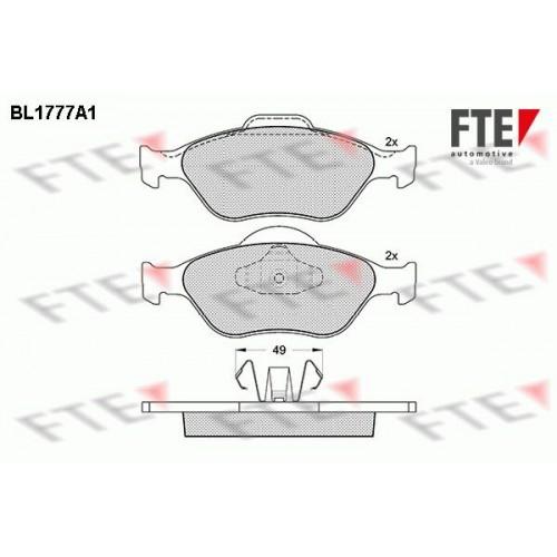 Τακάκια Σετ MAZDA 2 2003 - 2005 ( DY ) FTE BL1777A1