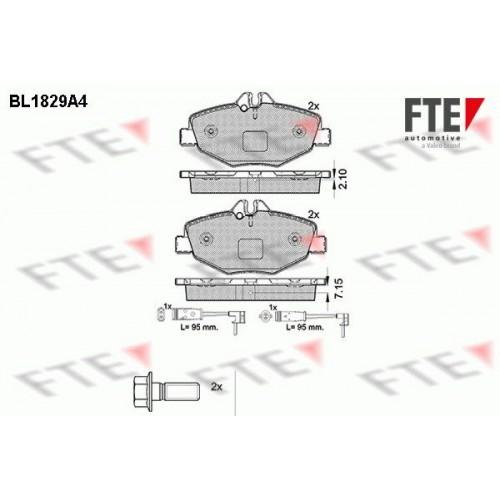 Τακάκια Σετ MERCEDES E CLASS 2002 - 2006 ( W211 ) FTE BL1829A4