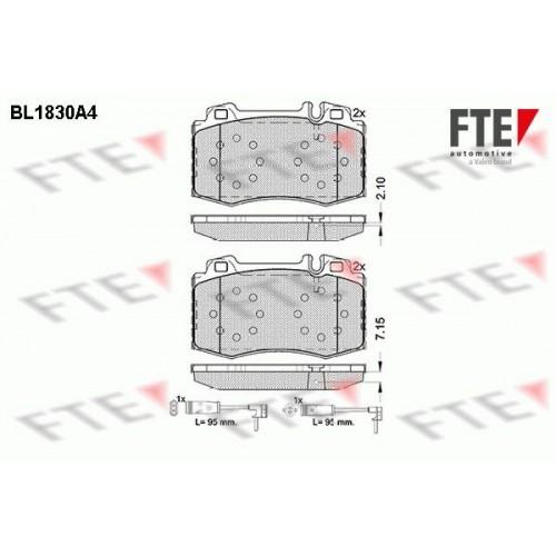 Τακάκια Σετ MERCEDES C CLASS 2000 - 2003 ( W203 ) FTE BL1830A4
