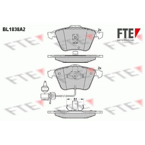 Τακάκια Σετ AUDI A6 2002 - 2004 ( 4B ) FTE BL1838A2