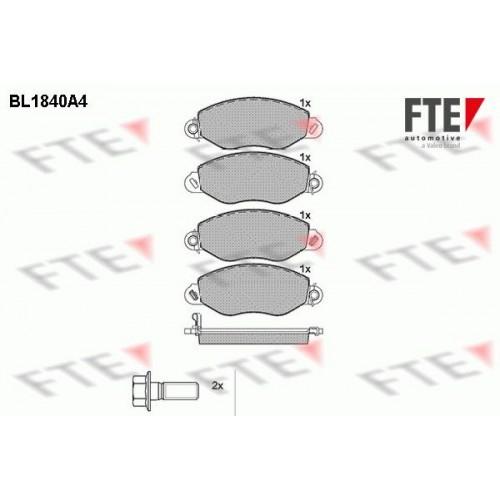 Τακάκια Σετ FORD TRANSIT 2000 - 2006 ( FA_ _ ) FTE BL1840A4