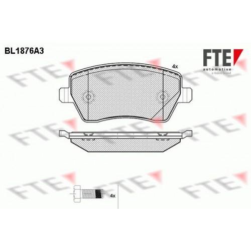 Τακάκια Σετ NISSAN MICRA 2003 - 2005 ( K12 ) FTE BL1876A3
