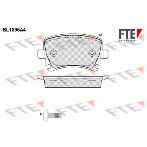Τακάκια Σετ VW GOLF 2004 - 2008 ( Mk5 ) FTE BL1896A4