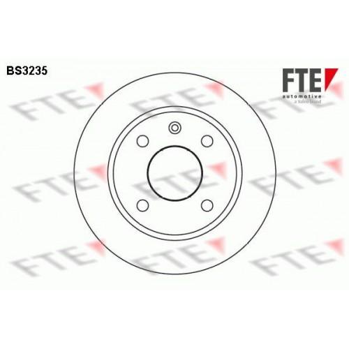 Δισκόπλακες FORD ESCORT 1986 - 1990 MK4 FTE BS3235