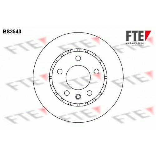 Δισκόπλακες OPEL OMEGA 1988 - 1991 ( A ) FTE BS3543
