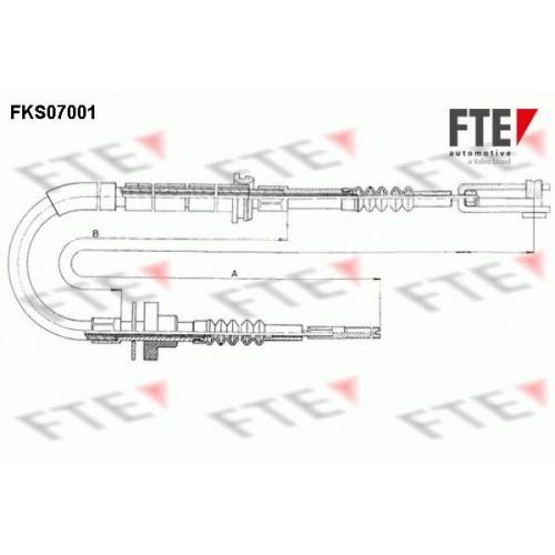 Ντίζα Συμπλέκτη FTE FKS07001