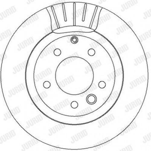 Δισκόπλακες VW TOUAREG 2003 - 2007 ( 7L ) JURID 562393JC