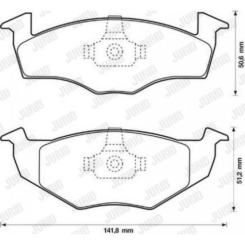 Τακάκια Σετ VW GOLF 1992 - 1998 ( Mk3 ) JURID 571939J