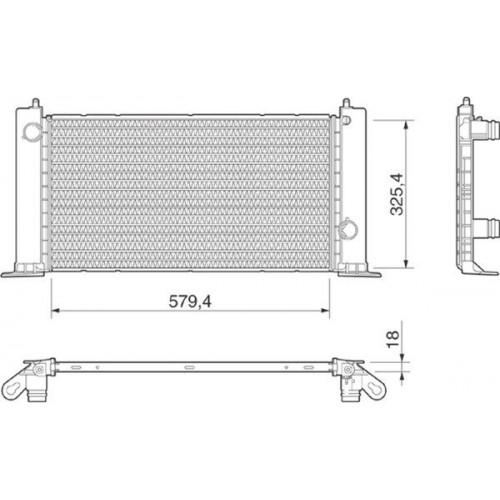 Ψυγείο Νερού FIAT STILO 2001 - 2006 ( 192 ) MAGNETI MARELLI 350213189000
