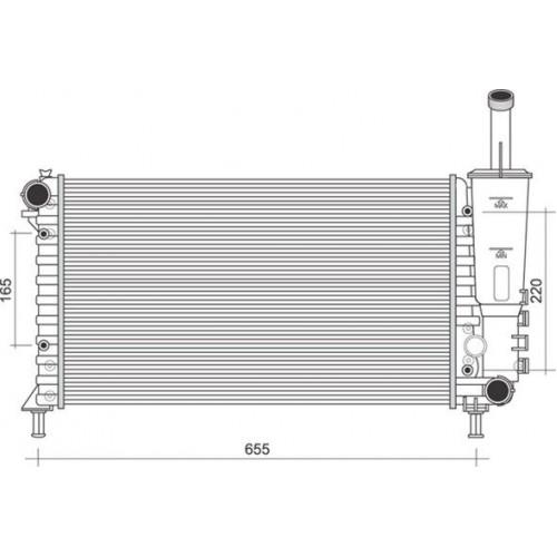 Ψυγείο Νερού FIAT PUNTO 2003 - 2011 ( 188 ) MAGNETI MARELLI 350213901000
