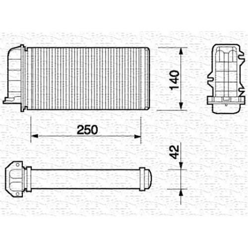 Ψυγείο Καλοριφέρ FIAT BRAVA 1995 - 2003 ( 182 ) MAGNETI MARELLI 350218059000