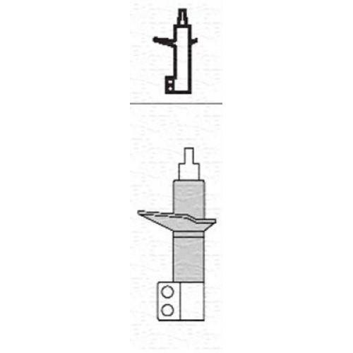 Αμορτισέρ CITROEN JUMPY 1995 - 2003 ( I ) ( U6U ) MAGNETI MARELLI 351753080000