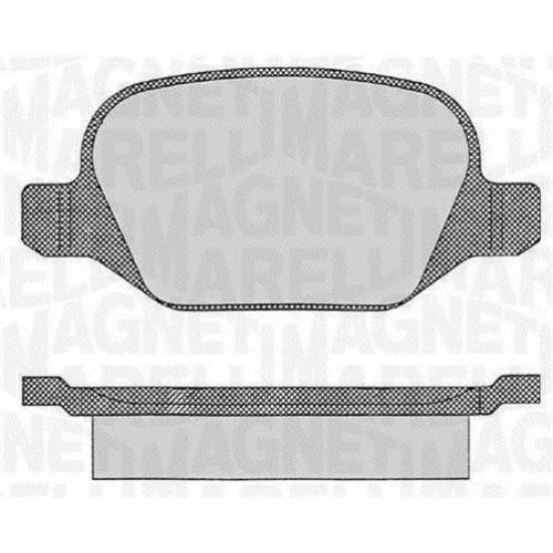Τακάκια Σετ FIAT LINEA 2007 - 2013 MAGNETI MARELLI 363916060109