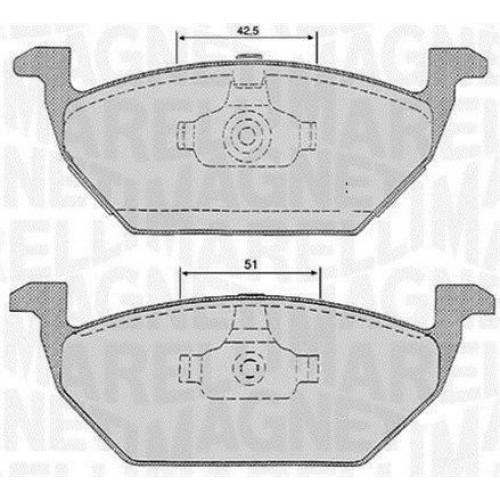 Τακάκια Σετ VW NEW BEETLE 2005 - 2011 ( 9C1 ) MAGNETI MARELLI 363916060134