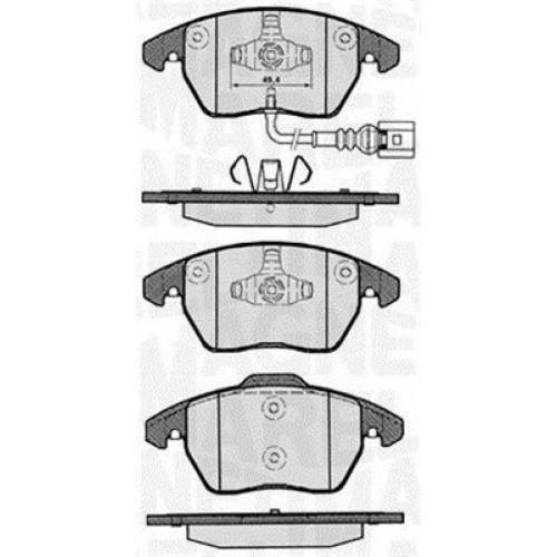 Τακάκια Σετ VW GOLF 2004 - 2008 ( Mk5 ) MAGNETI MARELLI 363916060135