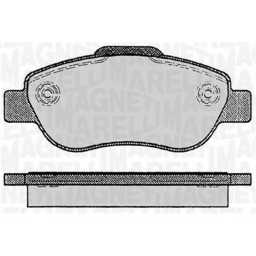 Τακάκια Σετ FIAT PANDA 2003 - 2009 ( 169 ) MAGNETI MARELLI 363916060236