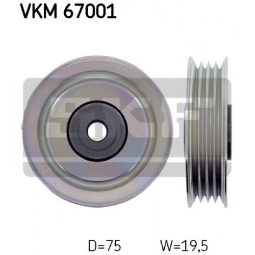 Τροχαλία παρέκκλισης & ενδιάμεσος τροχός DAIHATSU SIRION 2006 - ( M300 ) ( M301 ) SKF VKM 67001