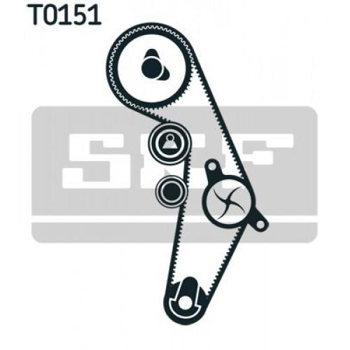 Σετ οδοντωτού ιμάντα VW PASSAT 2000 - 2005 ( 3B3 ) SKF VKMA 01018