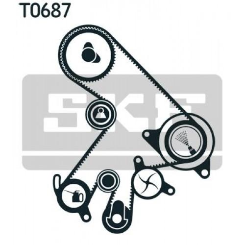 Σετ οδοντωτού ιμάντα TOYOTA AVENSIS 2000 - 2003 ( T220 ) SKF VKMA 91303